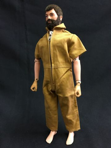 ELITE BRIGADE - AT Style Jumpsuit Short Sleeve Tan to fit Action Man/Gi Joe Adventure Team etc